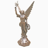 Bronze angel statue